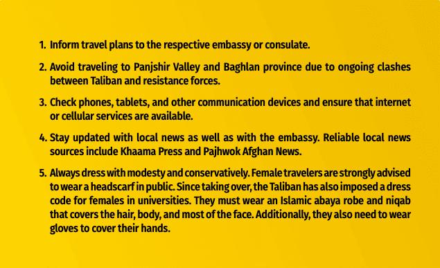 Taliban Afghanistan bulletpoints